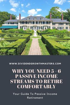 How many passive income streams does it take to retire early comfortably? In general it takes 5 – 6 different passive income streams to reach retirement. Click through to find out why…and how I'm personally generating passive income to reach retirement! Investing For Retirement, Early Retirement, Investing Money, Retirement Planning, Retirement Cards, Retirement Countdown, Retirement Advice, Passive Income Streams, Creating Passive Income