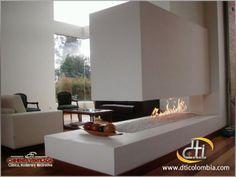 Fireplace Tv Wall, Modern Fireplace, Fireplace Ideas, Chimenea A Gas Natural, Interior Design Living Room, Living Room Decor, Living Rooms, My Dream Home, Kitchen Remodel