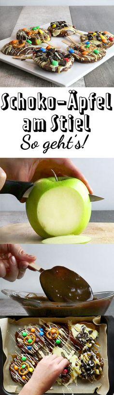 Die etwas andere Idee für den Kindergeburtstag: Schoko-Äpfel am Stiel für alle!