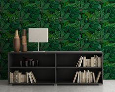 Upgrade your walls with this elegant Tropic Illustration Wall Mural adding an exclusive touch to your personal style and surprise your family and friends. New Wallpaper, Fabric Wallpaper, Tropical, Simple Addition, Self Adhesive Wallpaper, Cool Patterns, Textured Walls, Fabric Material, Wall Murals