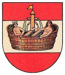 Baden bei Wien - Wikipedia, the free encyclopedia Austria, City Logo, Wikimedia Commons, Coat Of Arms, Cities, Free, Beauty, Seals, Communities Unit