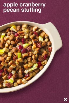 Take your Thanksgiving stuffing recipe to the next level by adding in some tasty apples, yummy cranberries and delish pecans to Pepperidge Farm stuffing. It's that easy!