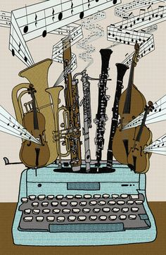 inspired by Leroy Anderson's The Typewriter (an oboe and a clarinet! <3)