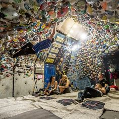 """I see your garage climbing wall and raise you""..."
