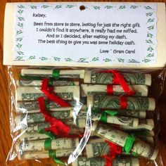 Money gift from grandma Homemade Christmas Gifts, Best Christmas Gifts, Christmas Projects, Homemade Gifts, Holiday Crafts, Christmas Holidays, Christmas Decorations, Christmas Carol, Christmas Gifts For Grandma