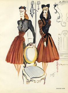Jaques Fath BFF with Christian Dior and an amazing manipulator...of fabric that is