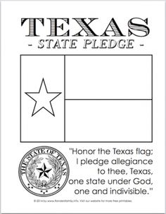 Texas State Flag And Pledge