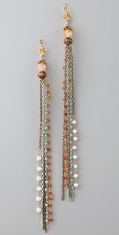Cynthia Dugan Beaded Tassel Earrings, Bead Earrings, Earrings Handmade, Beaded Jewelry, Handmade Jewelry, Unique Jewelry, Jewelry Crafts, Jewelry Art, Jewelry Accessories