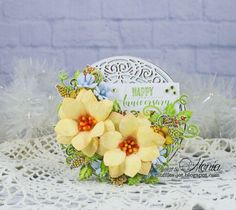 Card with dahlias by Monia - at Splitcoaststampers - Be inspired by the new designs on the Heartfelt Creations Blog today! Pin now! #HeartfeltCreations #papercrafting #cardmaking #cards #flowers #hydrangeas #papercrafts #diycraft #craft #crafts #crafting #handmadecards Zinnias, Daffodils, Dahlias, Hydrangeas, Heartfelt Creations Cards, Clear Glue, Paper Crafts, Diy Crafts, Stampin Up