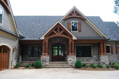 House front stone porches 42 New Ideas House front stone porches 42 New Ideas Dream House Exterior, Exterior House Colors, Exterior Design, Mountain Home Exterior, Stone On House Exterior, House Exteriors, House With Porch, House Front, Front Porch