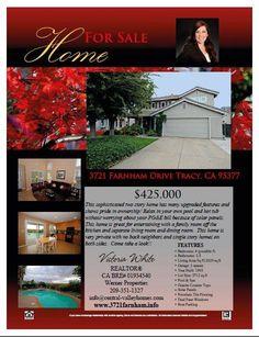 Home for Sale - 3721 Farnham Drive Tracy, CA 95377