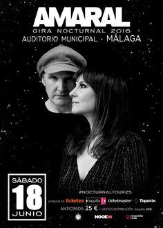 Concierto @amaraloficial #NocturnalTour25 en #Malaga #Junio #VisteMusica  http://www.latiendadelosartistas.com/es/86-fabricante-de-merchandising-de-amaral