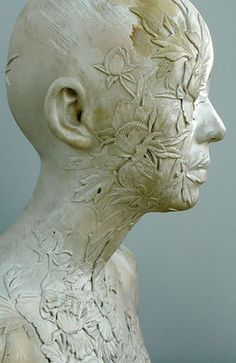 China China - Bust 73 (detail), polychrome enamel on porcelain, by Ah Xian