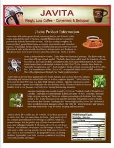 Info about our Burn+Control coffee that helps you lose weight- www ...