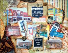 Oak Harbor Ohio  town art  historical  Mixed by LetYourArtSoar