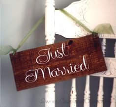 WEDDING SIGNS, Wedding Wooden Sign - Just Married Wooden Wedding Signs on Etsy, $25.00