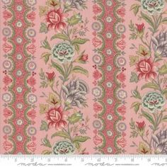 Jardin de Versailles - Botanique in Pale Rose by French General for Moda - 14415 French General, Palace Of Versailles, Cotton Quilting Fabric, Cozy Christmas, Home Decor Items, Sewing Crafts, Fabric Crafts, Sewing Projects, Rose
