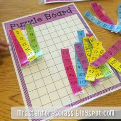 Hump Day Highlight {120's Chart Puzzles} These game boards will make 120's charts fun and easy for your students to practice until mastery! This kit contains 10 game boards (5 with numbers and 5 without) and 10 sets of puzzle pieces. I have each of these game boards laminated and sorted into baggies for my students to use in their math centers.