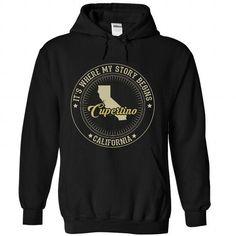 Cupertino - California Its where my story begins  - #black tee #american eagle hoodie. WANT IT => https://www.sunfrog.com/States/Cupertino--California-It-Black-Hoodie.html?68278