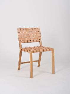 Leather Weave Chair in Blush for Kate Sylvester - Made by Douglas and Bec x Sam Orme-Gee - Douglas + Bec