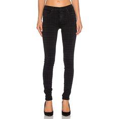 James Jeans James Twiggy Skinny Denim ($172) ❤ liked on Polyvore featuring jeans, skinny leg jeans, skinny jeans, black skinny jeans, black jeans and black super skinny jeans