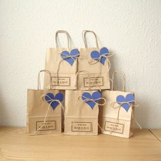 Wedding Sweet Bags Various Colors Pack of 100 Heart Favour Boxes Blue