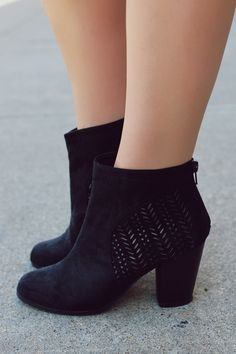 Suede Cut Out Bootie | UOIOnline.com: Women's Clothing Boutique