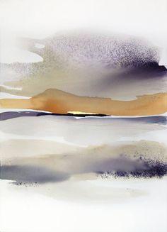 """Saatchi Art Исполнитель Сабрина Garrasi;  Картина, """"Утром ... - Большой Акварельный пейзаж"""" #art"""