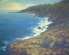Rocky Coast 32 x 40 inches, oil on canvas On Nature's Terms: Paintings of Thomas Paquettte