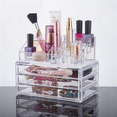 CHOICEFUN Acrylic makeup organizer storage box cosmetic organizador de maquiagem makeup storage drawers