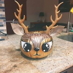 "Some of us can't do ""normal"" pumpkins 🎃 pumpkin,deer,deerpumpkin Christmas Pumpkins, Halloween Pumpkins, Fall Halloween, Halloween Crafts, Halloween Decorations, Halloween 2019, Pumpkin Art, Cute Pumpkin, Pumpkin Crafts"