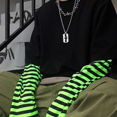Neon Outfits, Edgy Outfits, Girl Outfits, Cute Outfits, Fashion Outfits, Soft Grunge Outfits, Harajuku Fashion, Grunge Fashion, Geek Fashion
