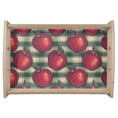 Country Apple Serving Trays