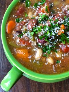 Italian Sausage and Bean Soup Recipe - The Lemon Bowl – ENJI Daily #glutenfree