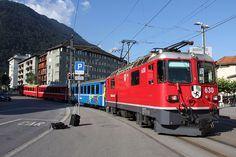 Rhätische Bahn (RhB), Arosa Line trains hauled by older Ge 4/4 II locomotives