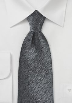 Intricate Tie in Black and Charcoal