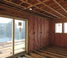 Walls insulated with batt insulation Plum Island remodeling project