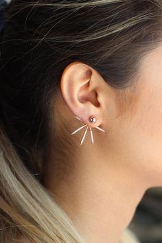 Shine Ear Jackets / Sterling Silver / Pair by jewelrylovinggirls