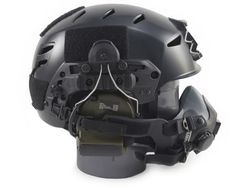 Team Wendy EXFIL LTP Bump Helmet Now Available. Mounted with Peltor Comtac ear pro and an O2 mask for sneaky business.