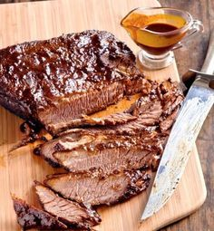 My Mothers Brisket, A recipe for people who do not know how to cook. [This is how that guy at Kellers taught me to cook brisket, oh-so-many-years-ago. Its always been a winner. Ive never tried straining the juices and making a gravy, though. Next time. How To Cook Brisket, Beef Brisket Recipes, Bbq Brisket, How To Cook Beef, Pork Recipes, Recipies, Beef Brisket Crock Pot, Smoked Brisket, Smoked Ribs