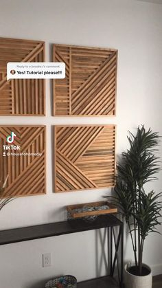 Diy Wall Decorations, Wall Decor Crafts, Wood Wall Art Decor, Diy Wood Wall, Diy Crafts For Home Decor, Diy Wall Art, Diy Wooden Projects, Diy House Projects, Furniture Projects