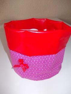 Utensilo Wachstuch Pink/Rot
