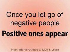 let go negative people