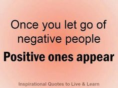 let go negative people