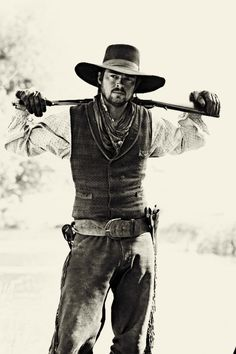 Karl Urban/Woodrow Call. The only good thing that came out of that atrocious series was seeing Karl in cowboy attire.