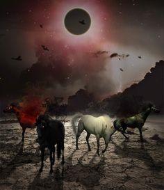 Behold The Four Horses Of The Apocalypse Pestilence Famine