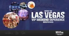 Fill out our form to enter to win the Vegas VIP weekend sweepstakes.  Re-enter daily and don't forget to tell your friends.  Competition ends October 18th.