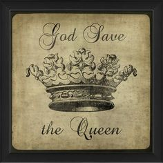 Found it at Wayfair - Harlequin Playing Cards God Save the Queen Framed Graphic Art