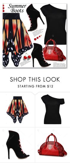 """""""Summer Booties"""" by jecakns ❤ liked on Polyvore featuring R.J. Graziano"""