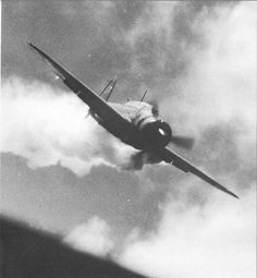 Close-up of Japanese Kamikaze just before he crashed on USS Essex, November 25, 1944 Photographed by Lt. Comdr. Earl Colgrove, USNR.